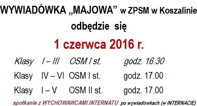 Wywiadówka Majowa – 1 czerwca 2016 r.