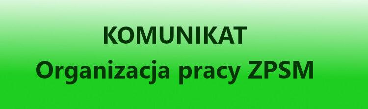 Komunikat dotyczący prób i zajęć stacjonarnych z 9.04.2021 r.