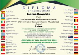 J.Kowalska dyplom