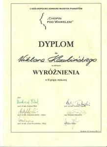 Dyplom wyróżnienie Kraków 002